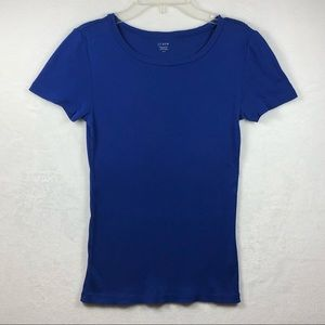 J Crew Small Blue Fitted Tee Shirt